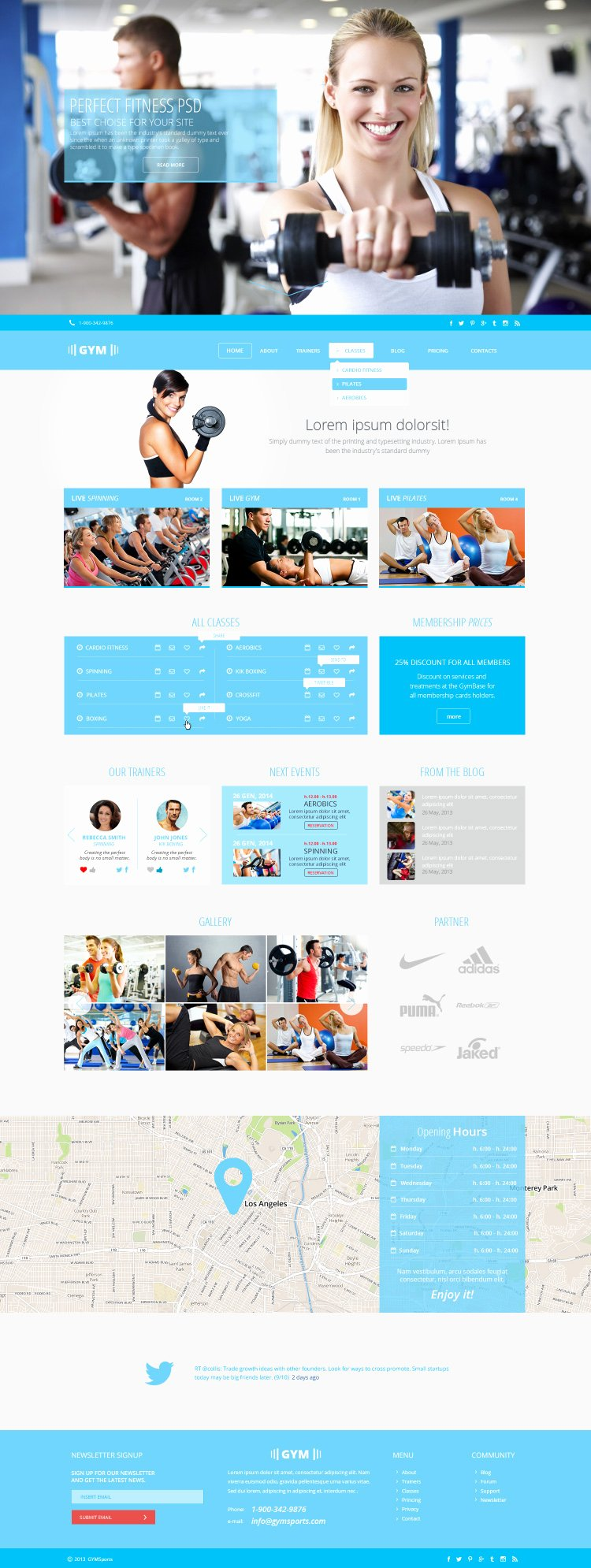 Sports Web Site Template Luxury Gymsports – Psd Template
