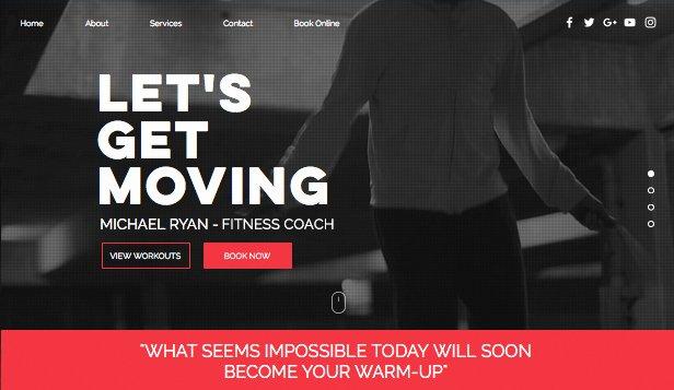 Sports Web Site Template Luxury Health & Wellness Website Templates