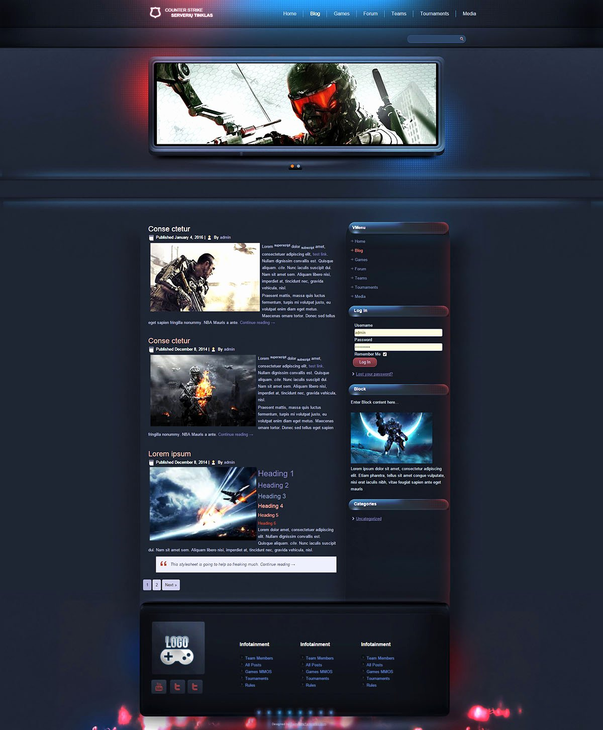 Sports Web Site Template New Esport Gaming Wordpress theme