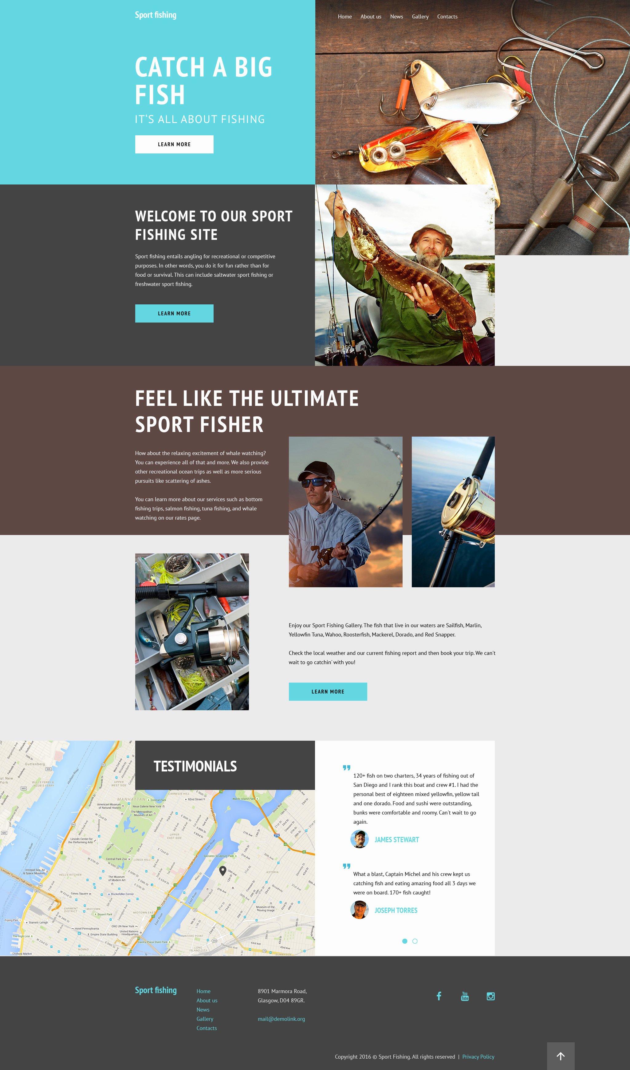 Sports Web Site Template Unique Fishing Equipment Website Template