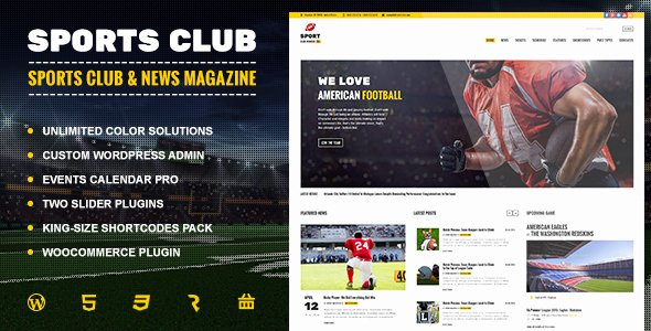 Sports Web Site Template Unique Sports Club Football soccer Sport News theme by