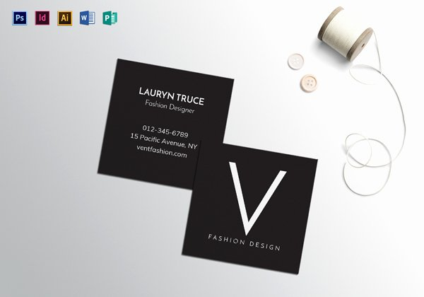 Square Business Card Template Awesome Black and White Business Cards Graphics Design