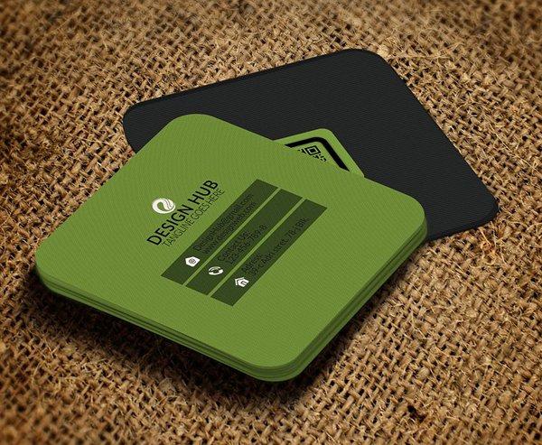 Square Business Card Template Beautiful Mini Square Business Card Psd Templates Design