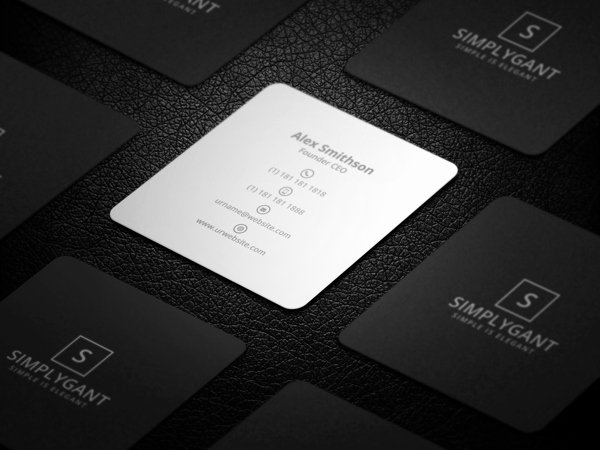 Square Business Card Template Best Of Mini Square Business Card Psd Templates Design