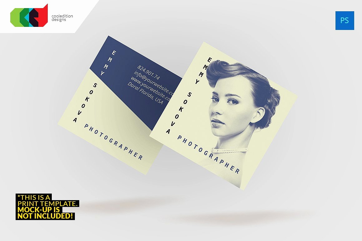 Square Business Card Template Elegant 23 Mini Square Business Card Psd Templates Ready to Print