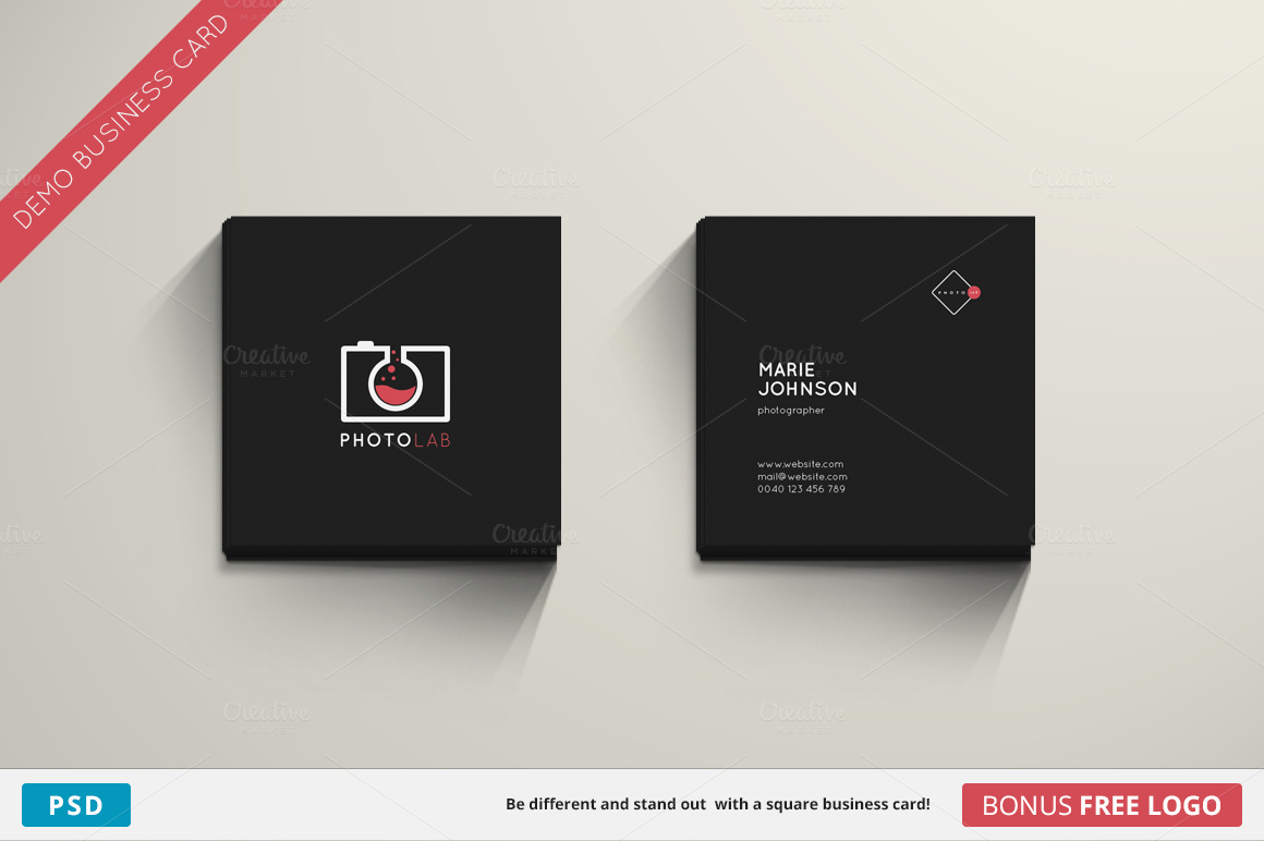 Square Business Card Template Fresh Lab Business Card Square Business Card Templates
