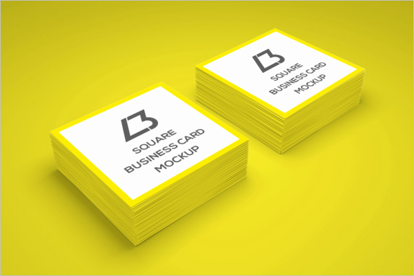 Square Business Card Template Inspirational 53 Square Business Card Templates Free Psd Word Designs