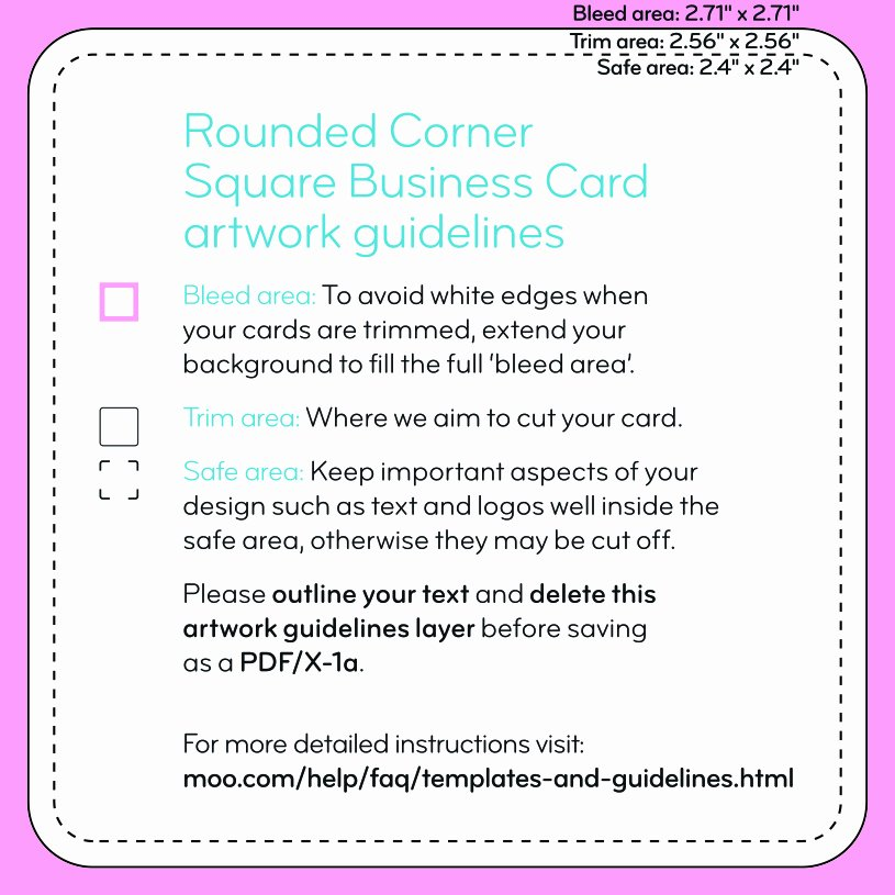 Square Business Card Template Inspirational Square Business Cards Templates – Moo
