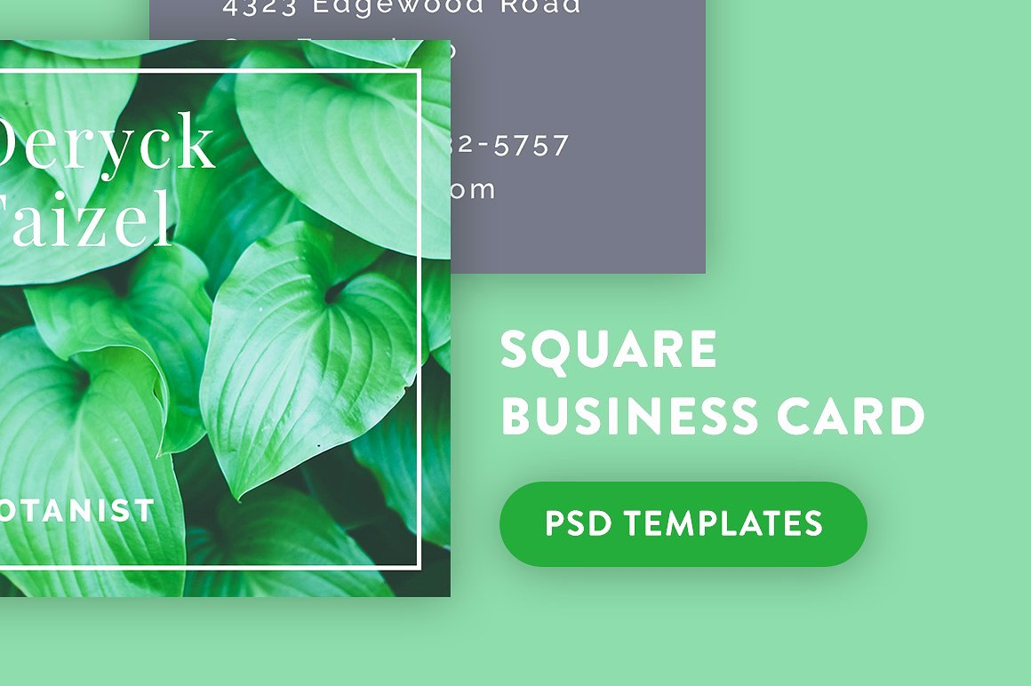 Square Business Card Template Lovely 23 Mini Square Business Card Psd Templates Ready to Print