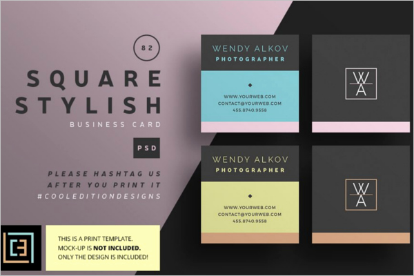 Square Business Card Template New 53 Square Business Card Templates Free Psd Word Designs