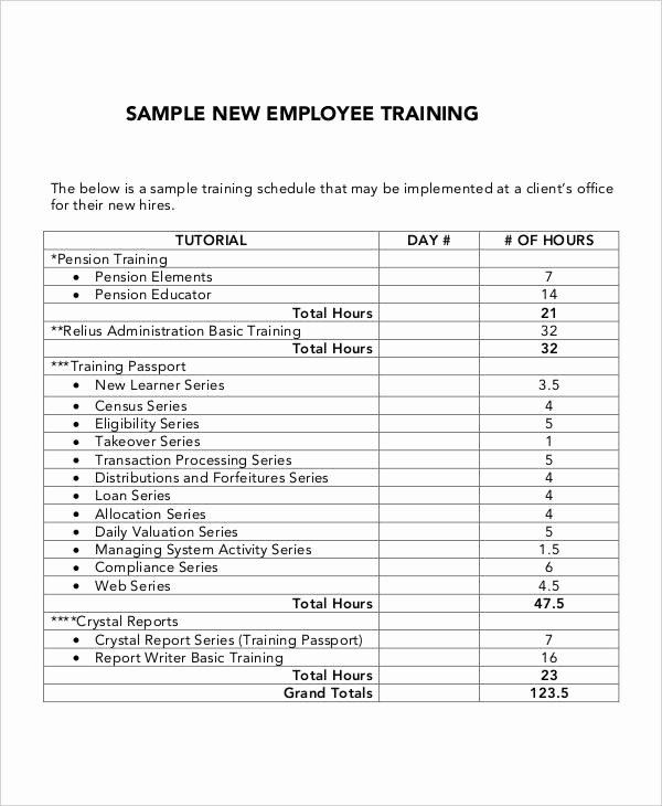 Staff Training Plan Template Awesome 5 Employee Training Plan Templates Free Samples