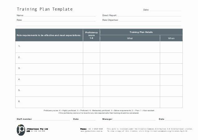 Staff Training Plan Template Beautiful Jpabusiness Staff Training Plan Template