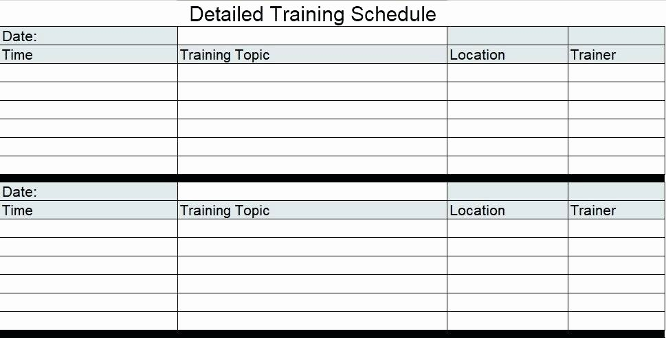 Staff Training Plan Template Beautiful Template Training Schedule Template In Excel