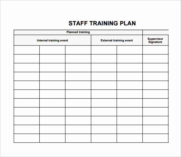 Staff Training Plan Template Best Of Training Plan Template 19 Download Free Documents In