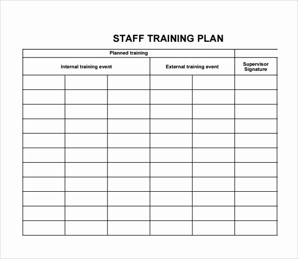 Staff Training Plan Template Unique Employee attendance Record Template Excel Tracker Sample