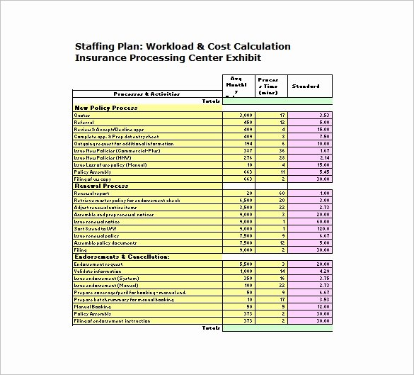 Staffing Plan Template Excel Unique 12 Staffing Plan Templates – Free Sample Example format