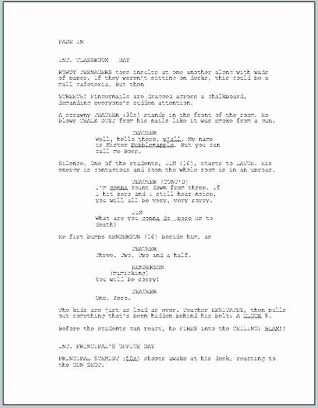 Stage Play format Template Beautiful Screenplay format Template Script Layout Elegant Resume