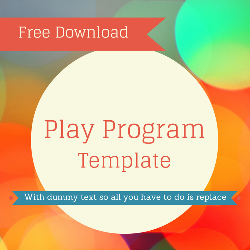 Stage Play format Template Inspirational Free Play Program Template for Use This In Your