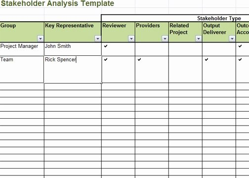 Stakeholder Analysis Template Excel Beautiful Stakeholder Analysis Template Excel