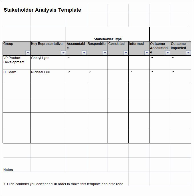 Stakeholder Analysis Template Excel Best Of Stakeholder Analysis Template 8 Free Word Excel Pdf