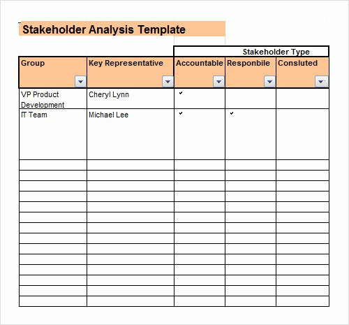 Stakeholder Analysis Template Excel Inspirational 20 Analysis Templates