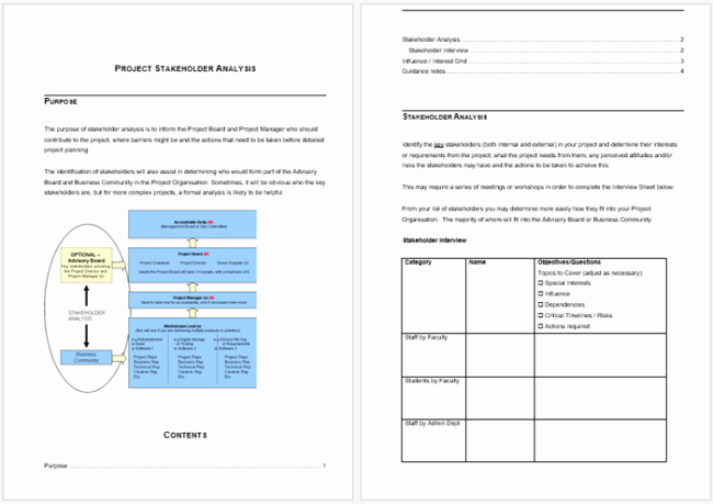 Stakeholder Analysis Template Excel Luxury Stakeholder Analysis Template 13 Examples for Excel