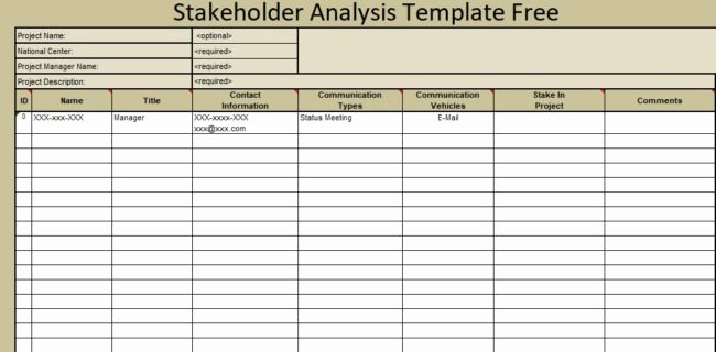 Stakeholder Analysis Template Excel Luxury Stakeholder Analysis Template Free