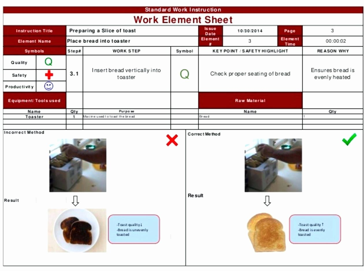 Standard Work Instruction Template Awesome Writing Work Instructions Template Work Instruction