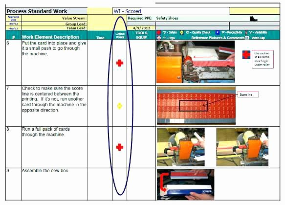 visual work instruction template standard charming instructions free