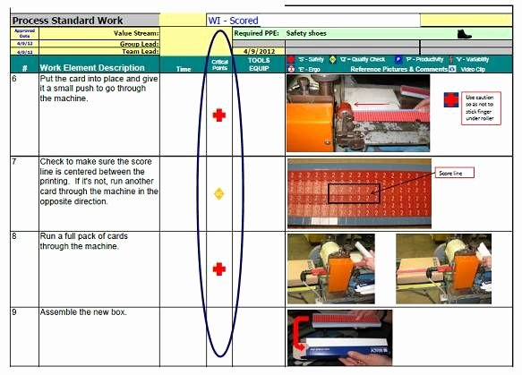 Standard Work Instruction Template Elegant Standardized Work Templates Google Search
