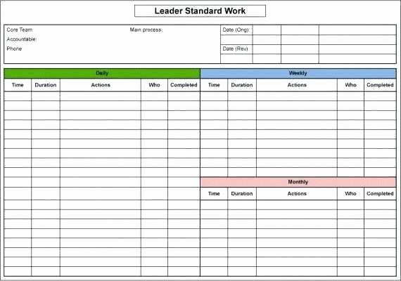 Standard Work Instructions Template Best Of Standard Work Instructions Excel Template Lovely Standard