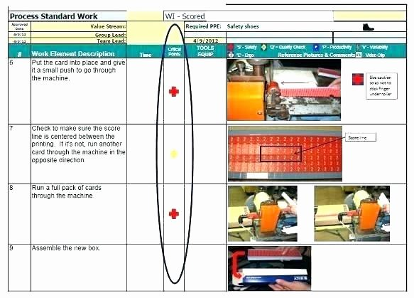 Standard Work Instructions Template Lovely Work Instruction Template Manufacturing the Rapid E