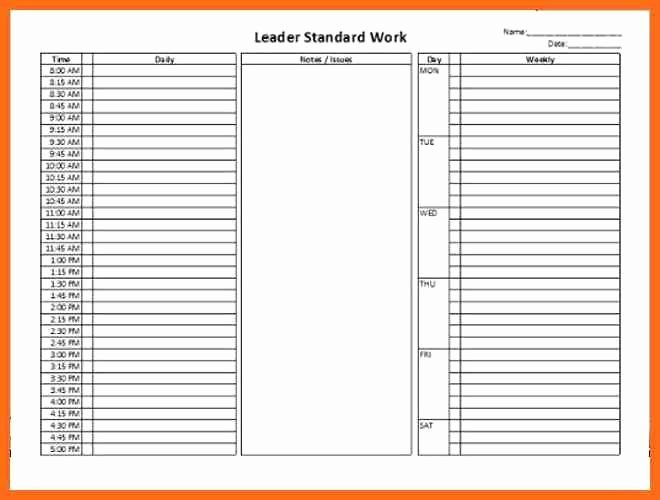 Standard Work Template Excel Beautiful Standardized Work Templates Excel Best Lean Management
