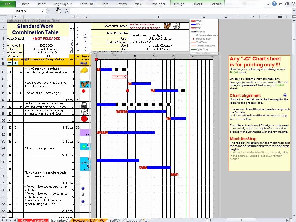Standard Work Template Excel Fresh Lean Standard Work Template Excel Lean Leader Standard