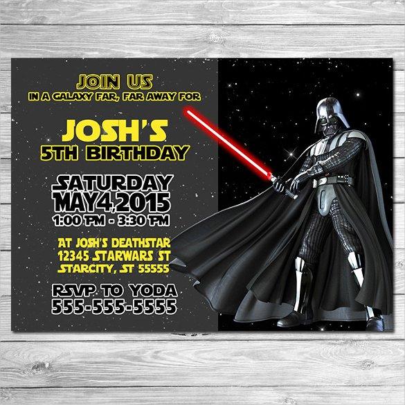 Star Wars Invitations Template Awesome 20 Star Wars Birthday Invitation Templates – Free Sample