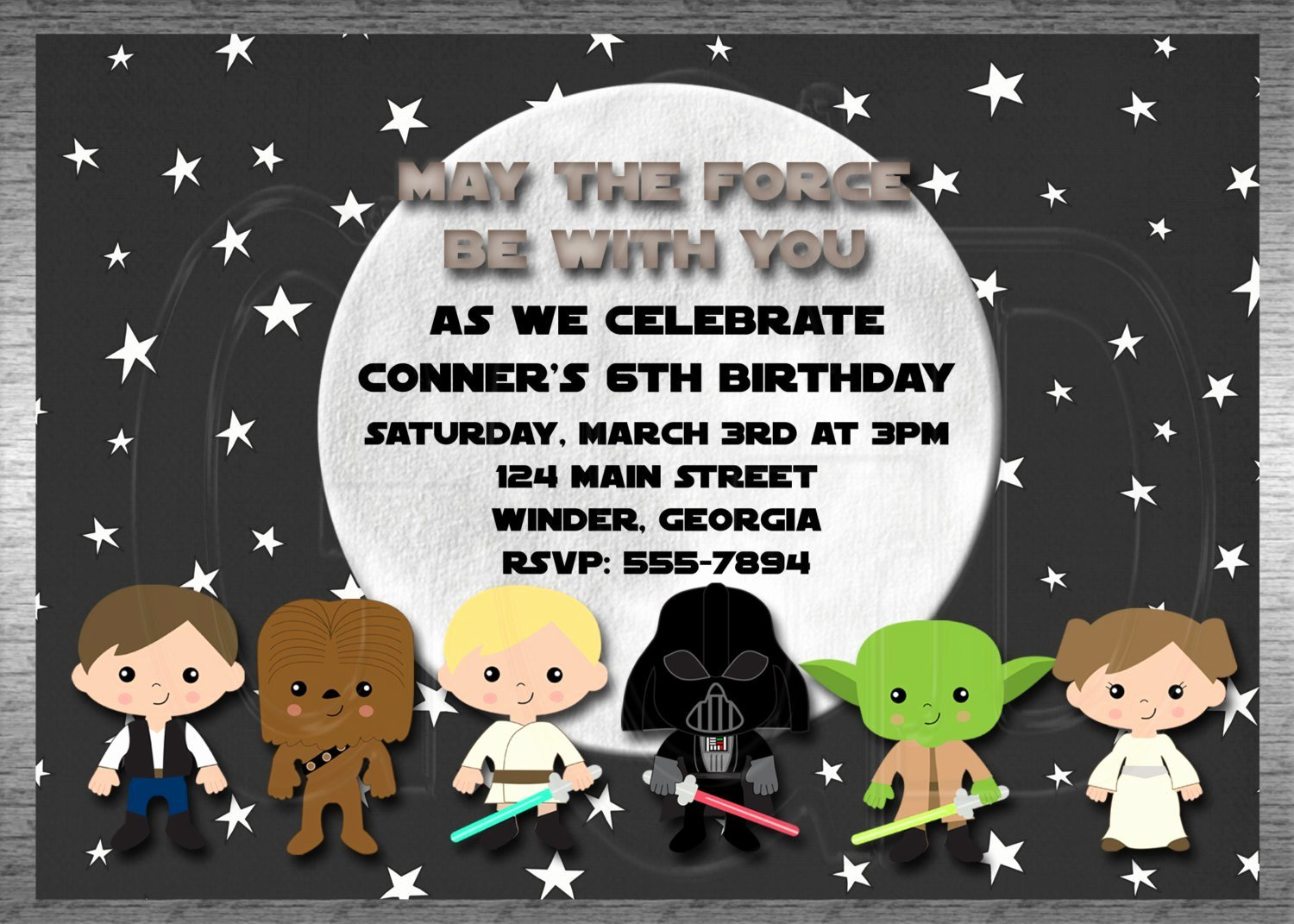 Star Wars Invitations Template Awesome Galaxy Star Wars Invitation Inspired Boy or by