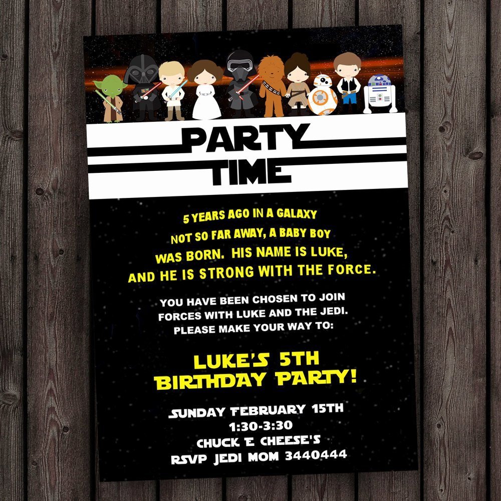 Star Wars Invitations Template Awesome Star Wars Invitation the force Awakens Invitation Star Wars