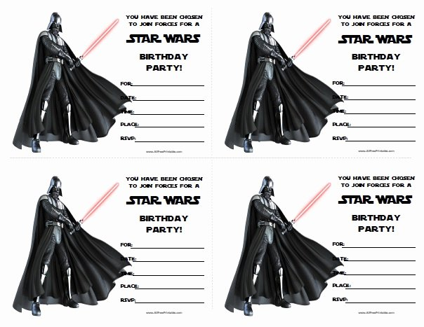 Star Wars Invitations Template Best Of Star Wars Birthday Invitations Free Printable