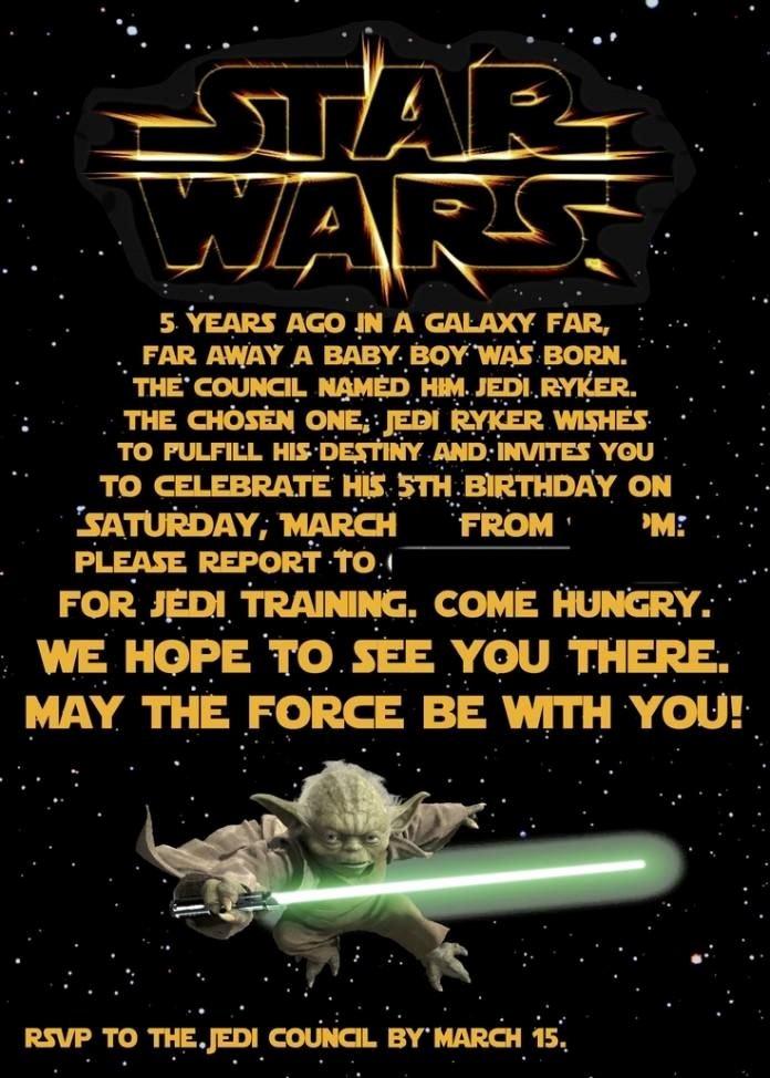 Star Wars Invitations Template Elegant Free Printable Star Wars Birthday Invitations