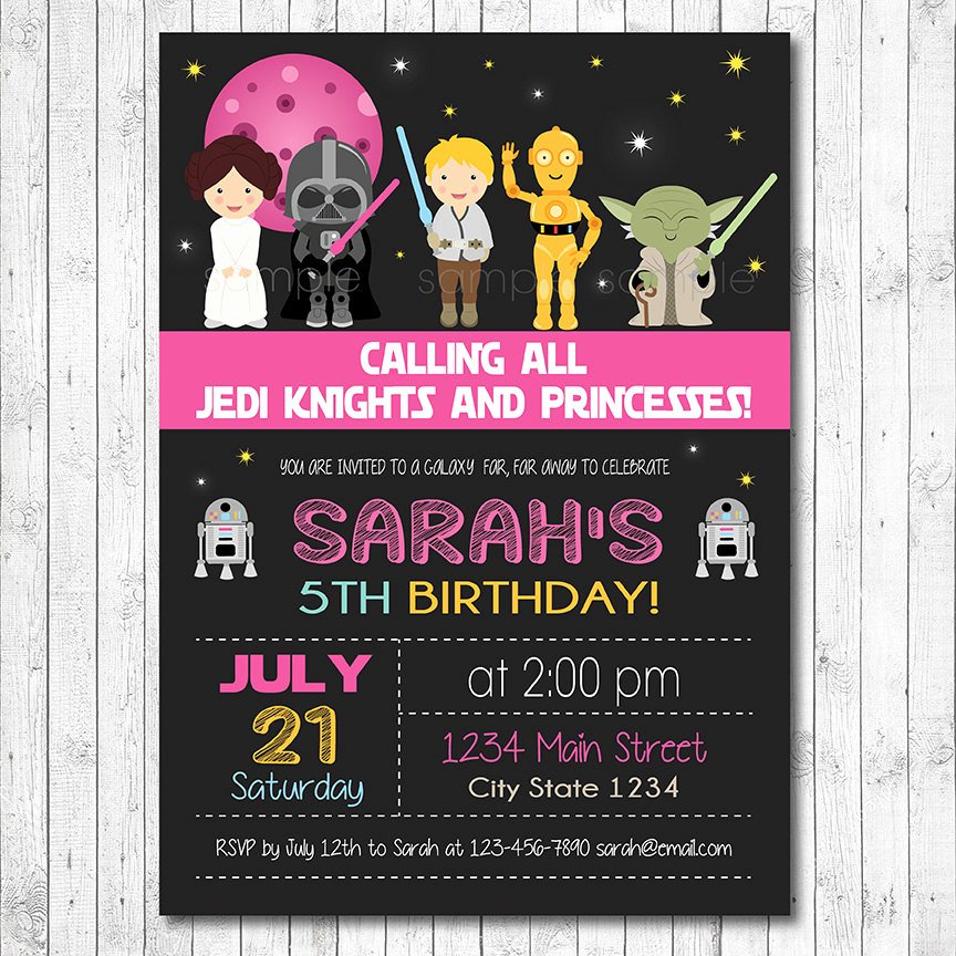 Star Wars Invitations Template Fresh Star Wars Birthday Invitation Star Wars Invite Star Wars