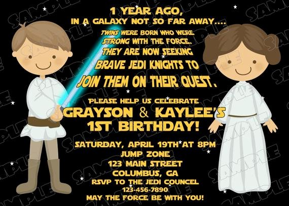 Star Wars Invitations Template Fresh Star Wars Scroll Boy and Girl Birthday Party Printable