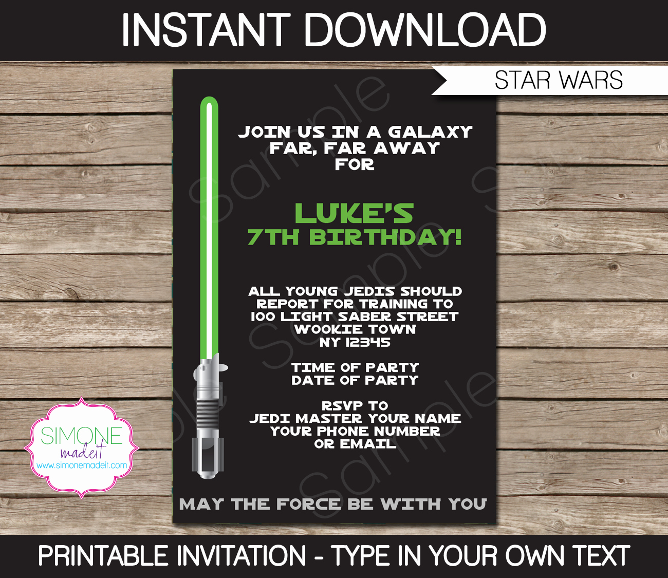 Star Wars Invitations Template Inspirational Star Wars Party Printables Invitations & Decorations