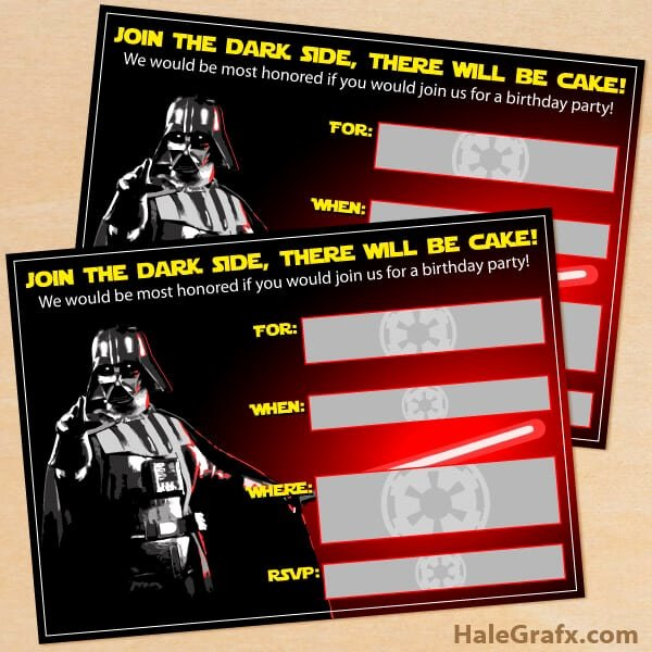 Star Wars Invitations Template Inspirational the Best Star Wars Party Ideas Happiness is Homemade