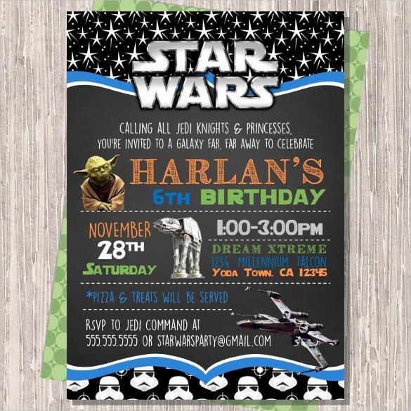 Star Wars Invitations Template Lovely 20 Star Wars Birthday Invitation Template – Free Sample