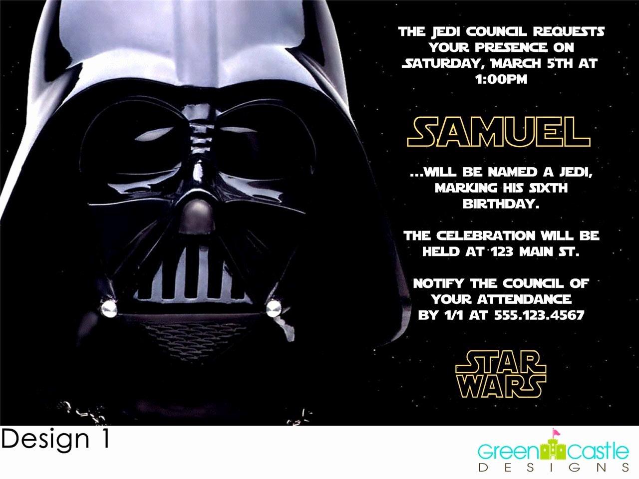 Star Wars Invitations Template Luxury Free Star Wars Birthday Party Invitations Templates