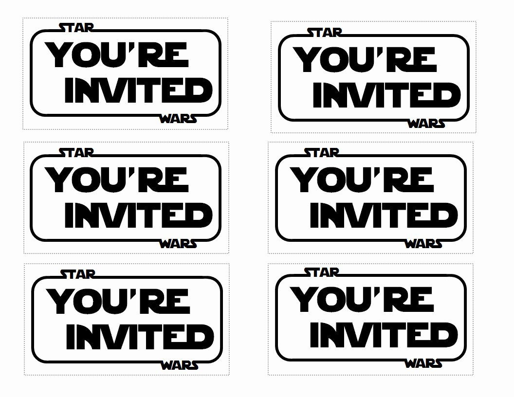 Star Wars Invitations Template Luxury Star Wars Party Invitation Templates