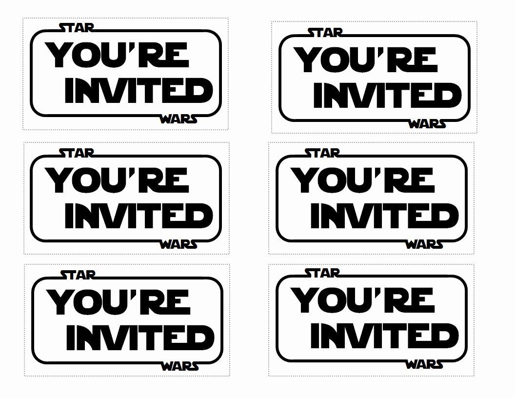 Star Wars Invitations Template Luxury Star Wars Party Invitation Templates
