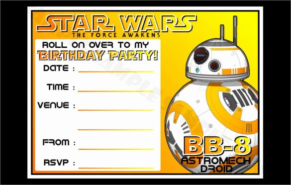 Star Wars Invitations Template New 20 Star Wars Birthday Invitation Template – Free Sample