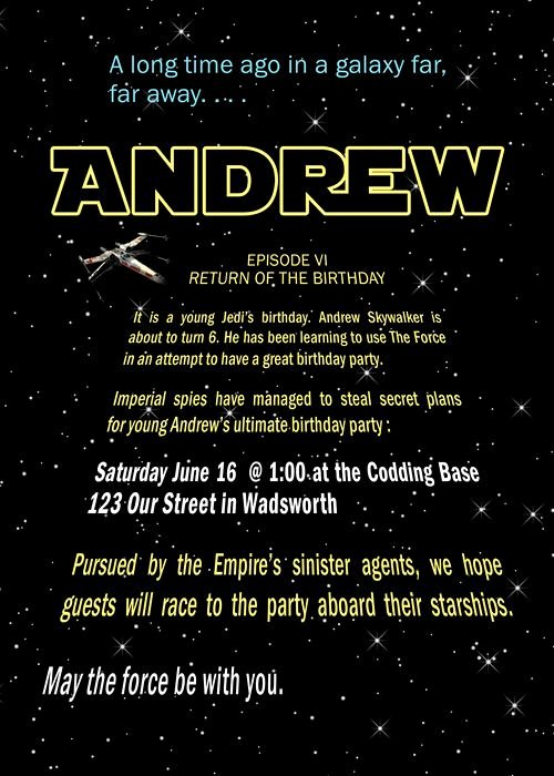 Star Wars Invitations Template New Free Printable Star Wars Birthday Party Invitations