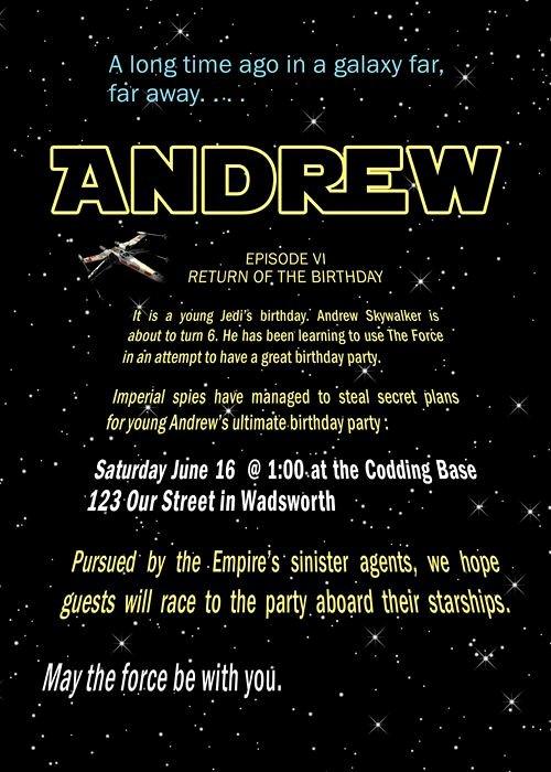 Star Wars Invitations Template New Free Printable Star Wars Birthday Party Invitations